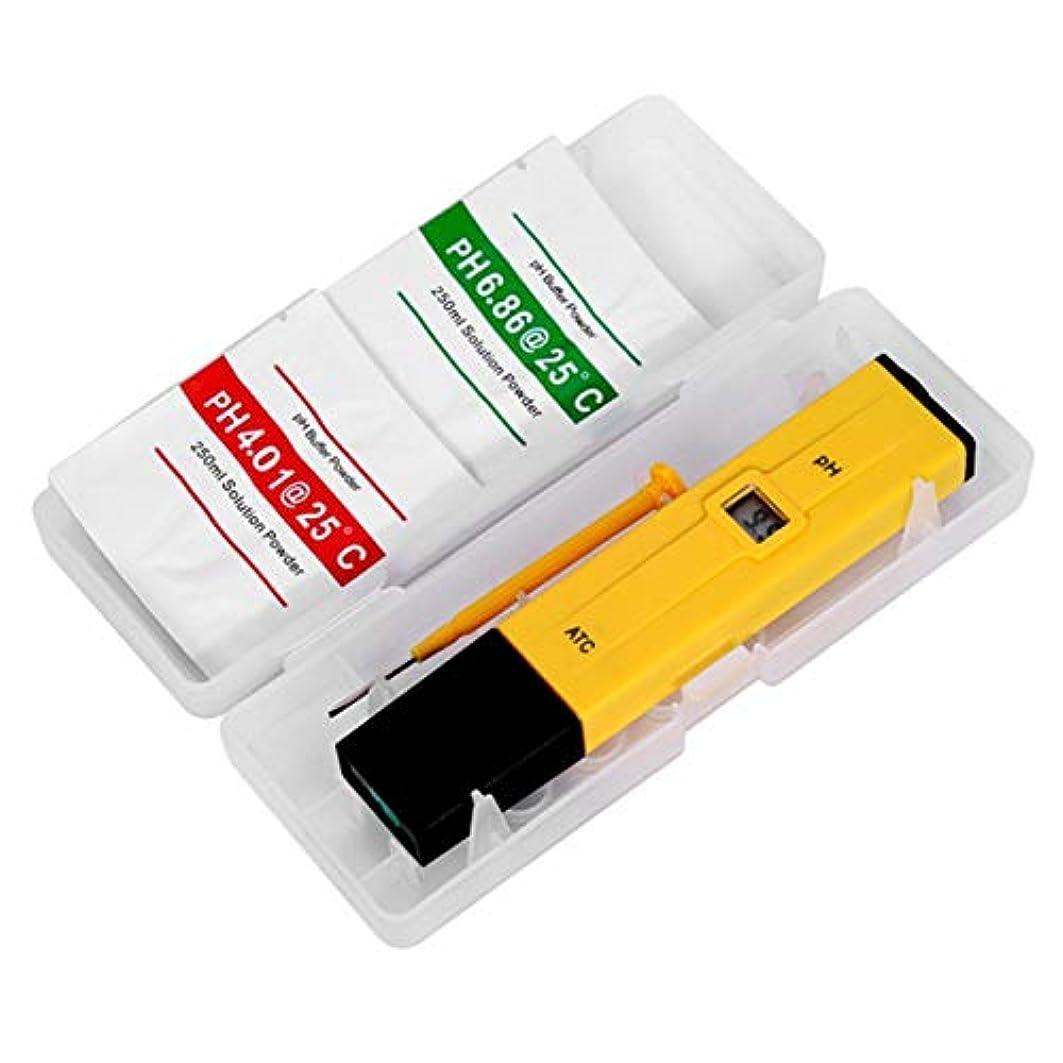 装備する安心させる補償Saikogoods テストのPHレベルのためのハンドヘルドデジタルディスプレイPHテスター水族館プールSPA水質モニタ純度のテスターツール イエロー&ブラック