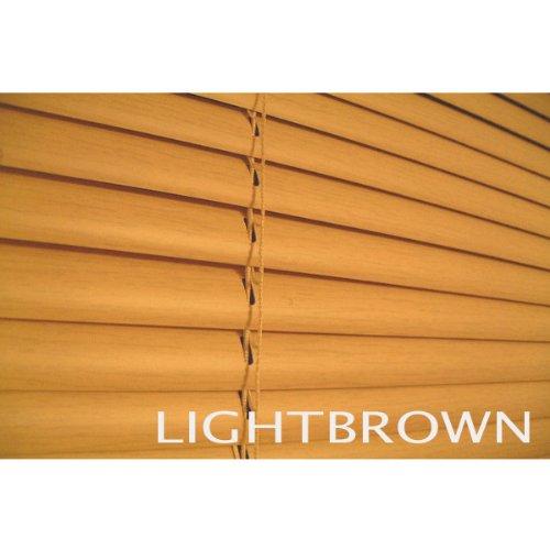 ブラインド ウッド調(木目) 横幅176×高さ180cm ライトブラウン