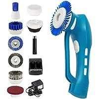Smatec 電動 お掃除ブラシ 軽量 充電式 IPX7防水 60分間稼働 8つブラシ付き キッチン 洗面台 隙間 靴