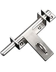 HWMATE 304ステンレス鋼 中実ハスプボルト スライドドアラッチロック 引戸錠
