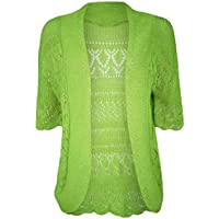 Fashion 24/7 Ladies Knitted Bolero Crochet Shrug Open Cardigan Top Plus Sizes