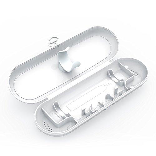 フィリップスソニッケアー?電動歯ブラシ携帯用ブラシヘッドキャップ Anotion電動歯ブラシ 収納ケース(フィリップスソニッケアー?に対応)(ホワイト) 電動歯ブラシ 本体1本 とブラシヘッド 2つ収納可能(ホワイト)