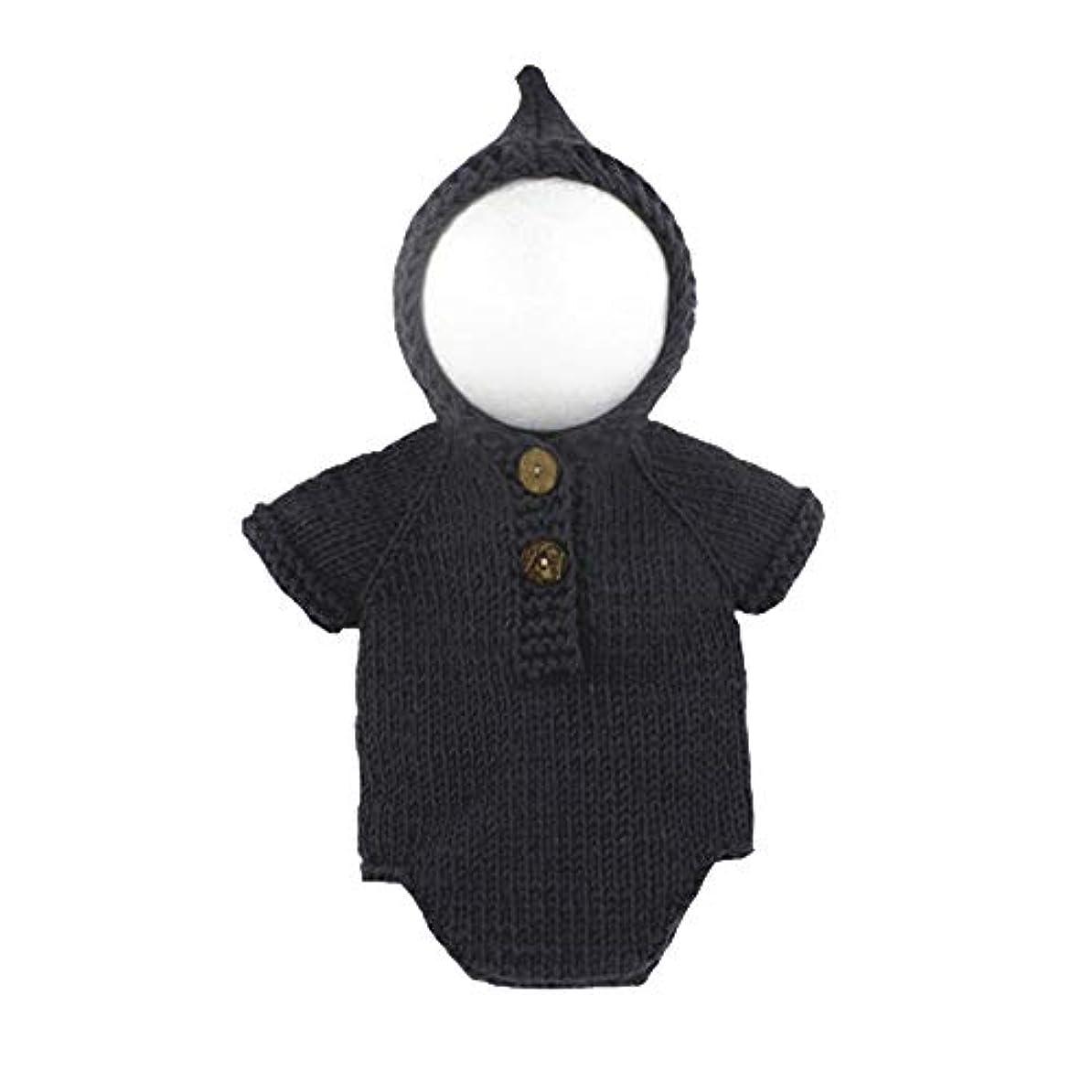 テキスト普通に次記念写真 かわいい オネシーズ 毛糸製 コスチューム 出産お祝い 柔らかいセーター ベビー かわいい ダークグレー