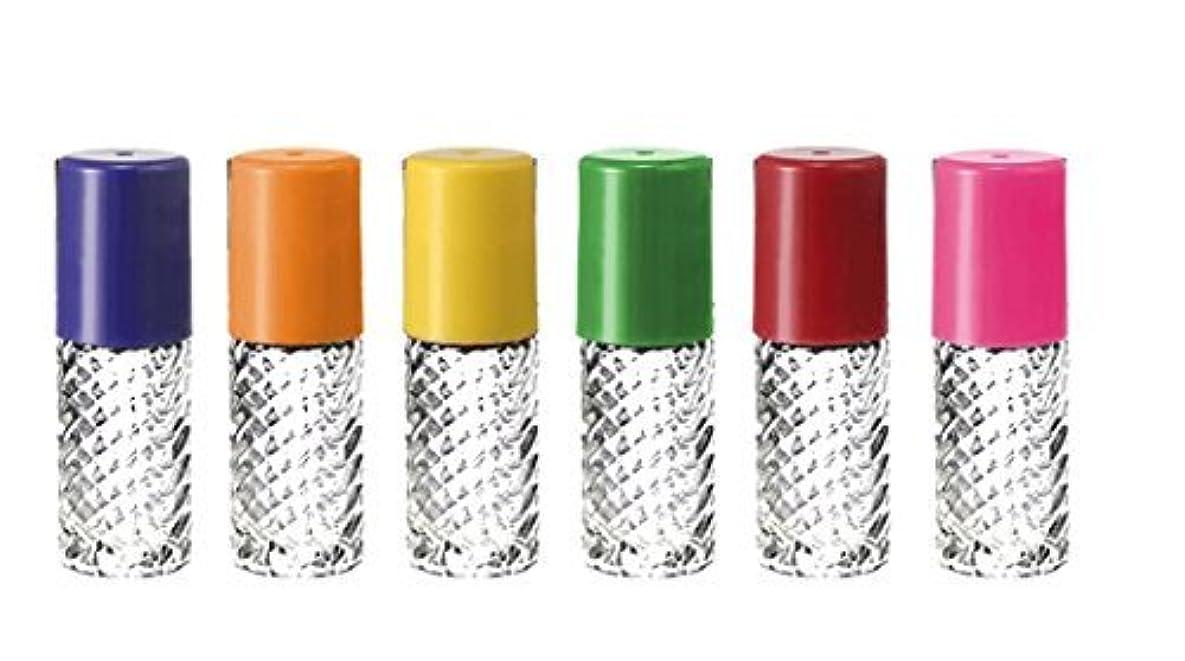 弁護士コンサートイライラするGrand Parfums Rainbow Fancy Large 30ml Roll On Empty Glass Bottles for Essential Oils Refillable 1 Oz Glass Roller 6 Pack Clear Swirled Glass 30 ml [並行輸入品]