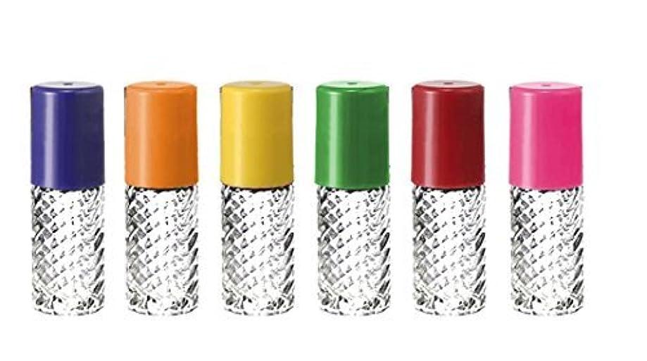 階層リーン滅多Grand Parfums Rainbow Fancy Large 30ml Roll On Empty Glass Bottles for Essential Oils Refillable 1 Oz Glass Roller...