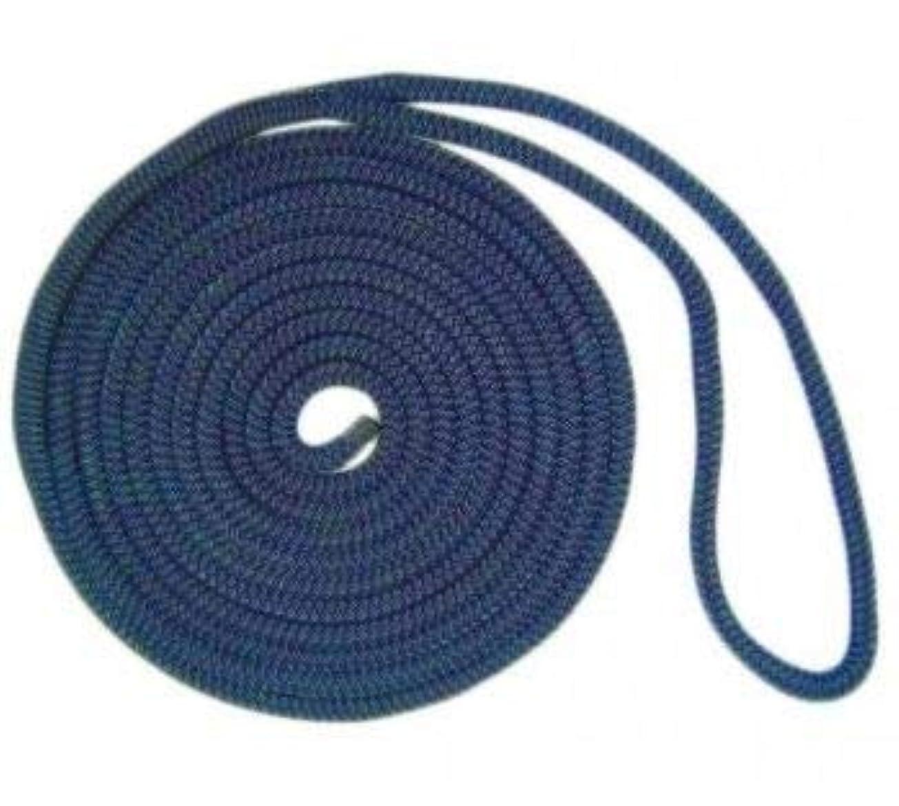 風素敵な繁栄するUS Ropes ナイロンダブル編みドックライン 1/2インチ x 20フィート ネイビー