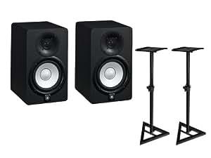 YAMAHA モニタースピーカー HS5(2本)+モニタースタンド2本組(ULTIMATE JS-MS70)セット