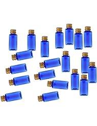 CUTICATE 化粧ボトル 香水ボトル 液体化粧品 エッセンシャルオイル 香水 ボディオイル 20個入り - ブルーゴールド