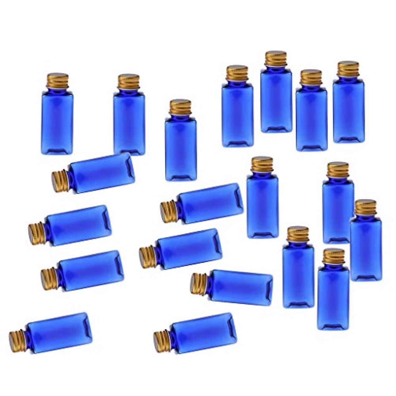選択無効吸収する化粧ボトル 香水ボトル 液体化粧品 エッセンシャルオイル 香水 ボディオイル 20個入り - ブルーゴールド