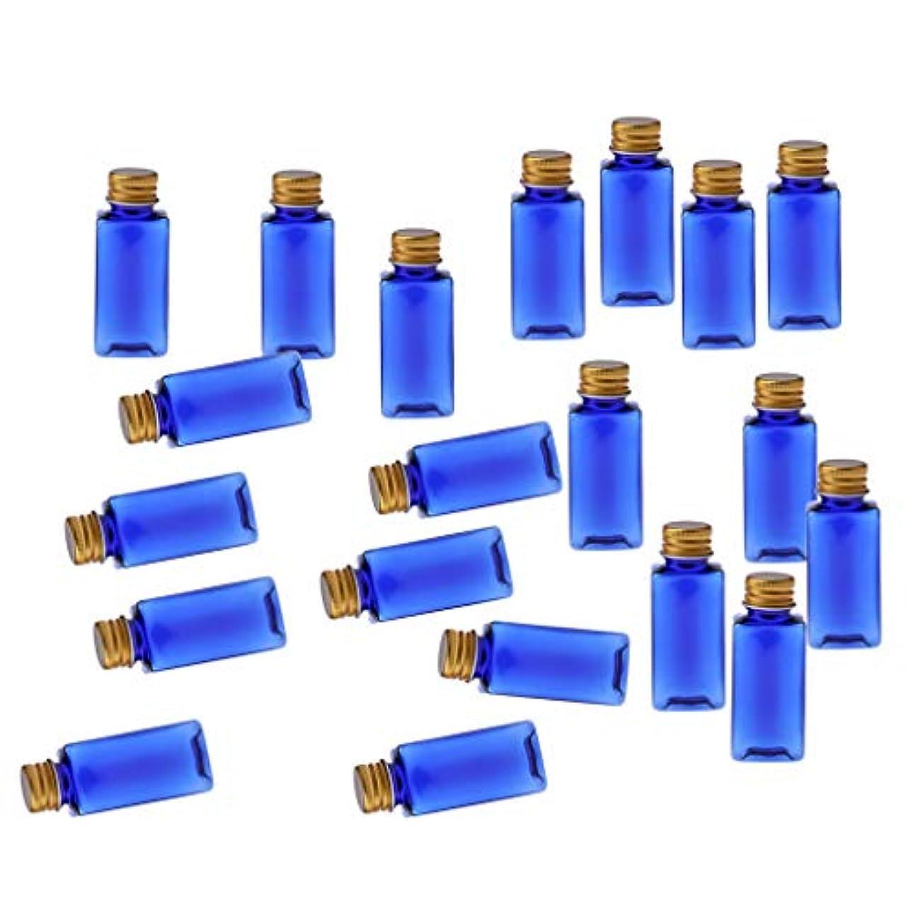設計入浴規制するCUTICATE 化粧ボトル 香水ボトル 液体化粧品 エッセンシャルオイル 香水 ボディオイル 20個入り - ブルーゴールド