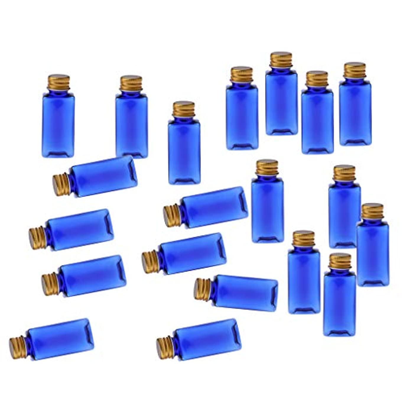 キャンドル安息コンパイル化粧ボトル 香水ボトル 液体化粧品 エッセンシャルオイル 香水 ボディオイル 20個入り - ブルーゴールド