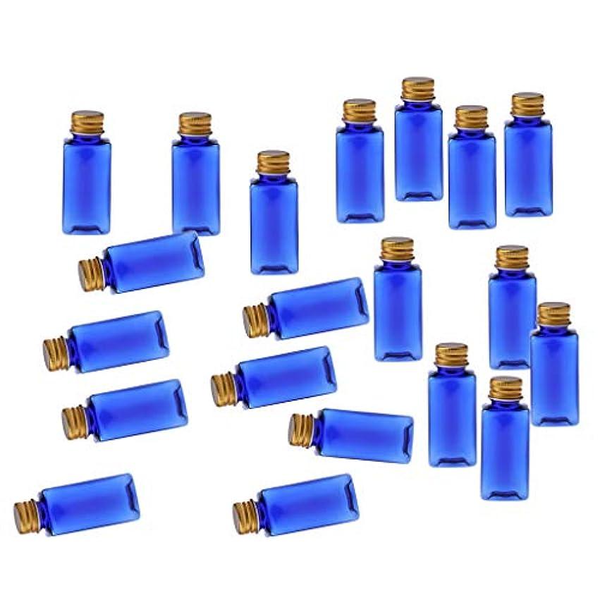 自発冷ややかな化粧ボトル 香水ボトル 液体化粧品 エッセンシャルオイル 香水 ボディオイル 20個入り - ブルーゴールド