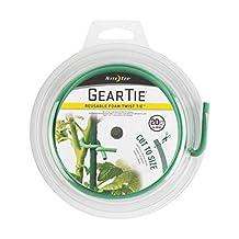 Nite Ize Gear Tie Garden Foam Tie, The Original Reusable Foam Twist Tie, Cut to Size, 20 foot spool, Green