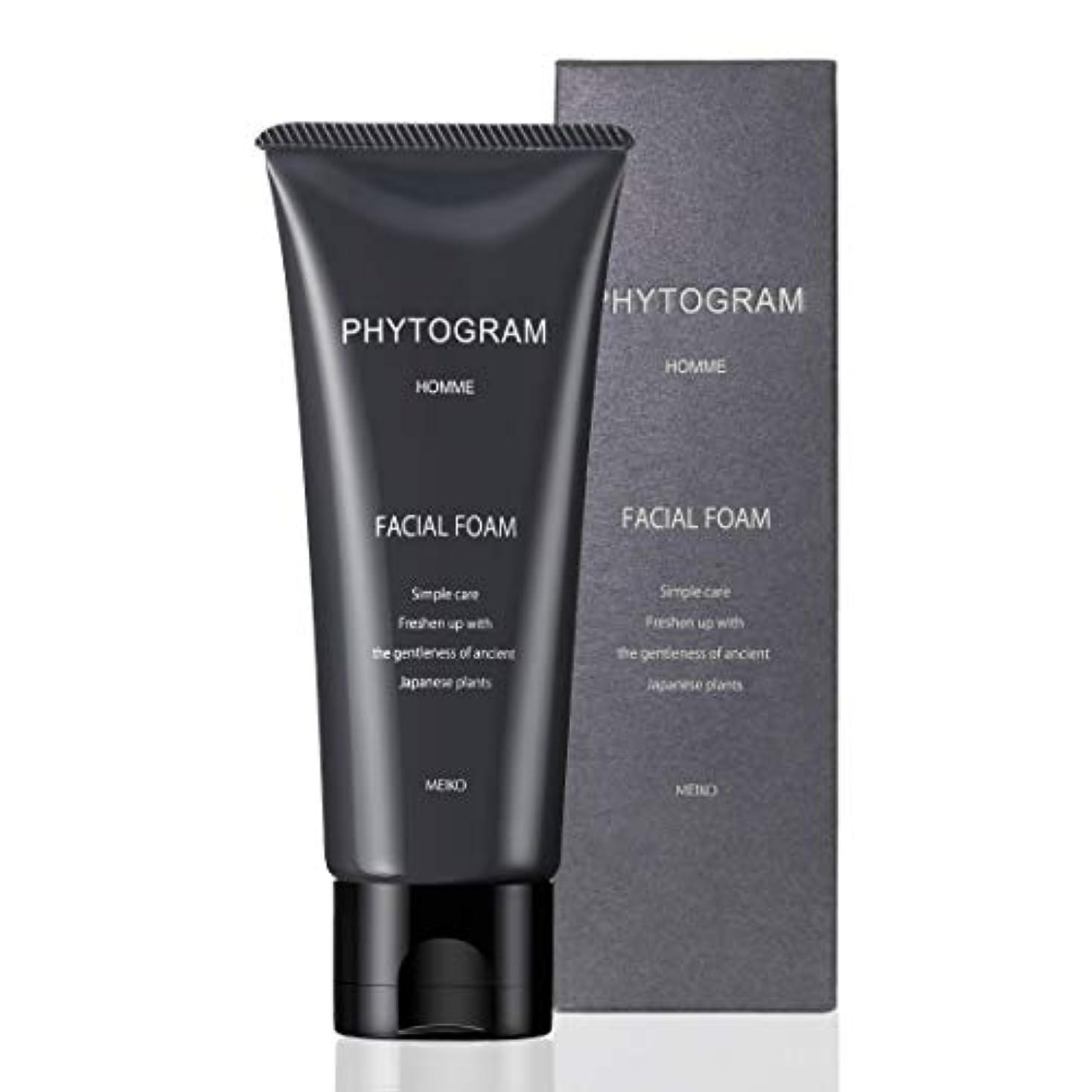 葉巻フラップ中断メンズ フェイシャルフォーム 100g ( 男性用 洗顔クリーム 洗顔料 保湿 ナチュラル 植物 日本製 )【 フィトグラム 】