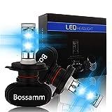 【2019最新モデル登場】LED ヘッドライト H4 Hi Lo車検対応 高品質チップ搭載 高輝度 長寿命 LEDヘッドライトバルブ IP65防水 8000LM 6500k DC9-32V 車検対応 ledチップ搭載 3年保証 (2個セット) (H4 Hi Lo)