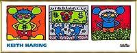 ポスター キース ヘリング Andy Mouse 1986 額装品 アルミ製ベーシックフレーム(ゴールド)