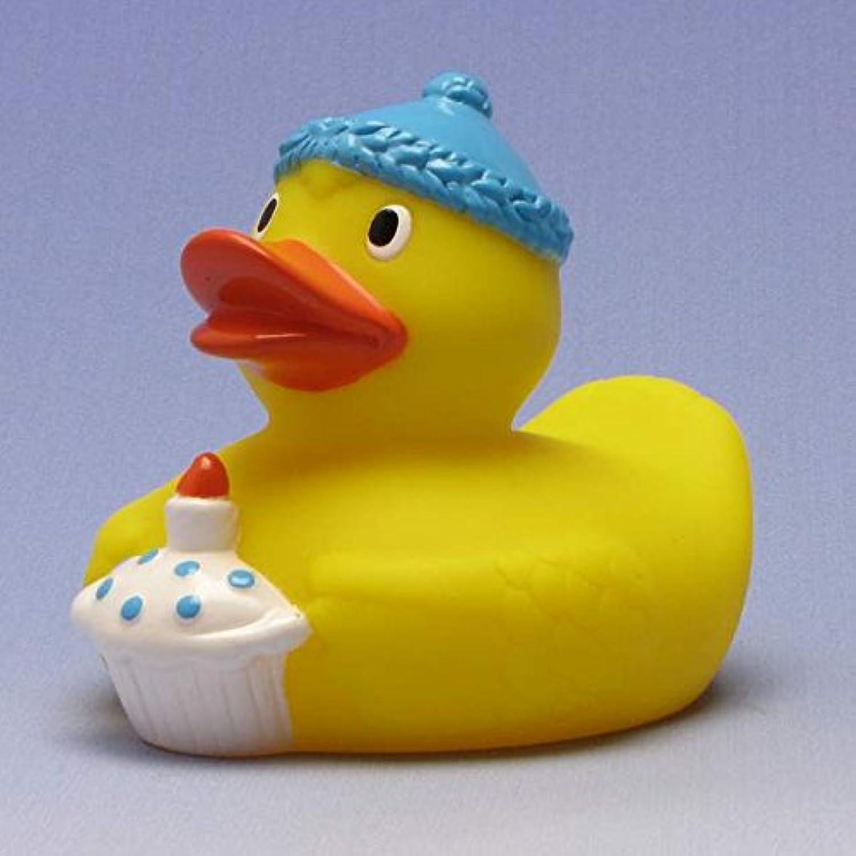 Happy Birthday Rubber Duck King blue ゴム製のアヒル …
