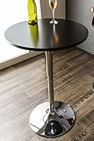 System K Bar Table, Counter Table, Round Table, Elevated Type, Rotating Table, Black