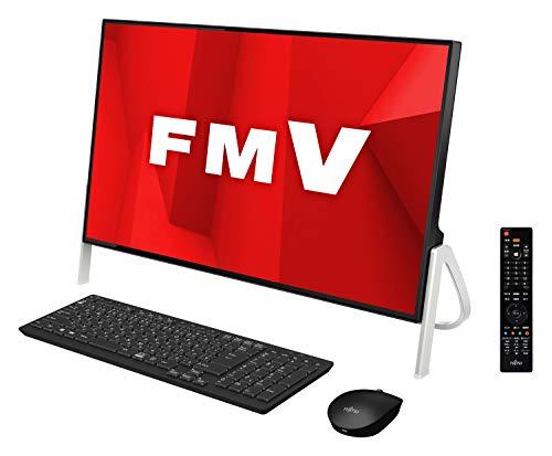【公式】 富士通 デスクトップパソコン FMV ESPRIMO FHシリーズ WF1 D1 (Windows 10 Home 23.8型ワイド液晶 Core i7 32GBメモリ 約256GB SSD + 約3TB HDD Blu-ray Discドライブ Office Home and Business 2019 ブラック TV機能付き)AZ_WF1D1_Z023 富士通WEB MART専用モデル