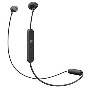 ソニー SONY ワイヤレスイヤホン WI-C300 : Bluetooth対応 最大8時間連続再生 マイク付き 2018年モデル ブラック WI-C300 B