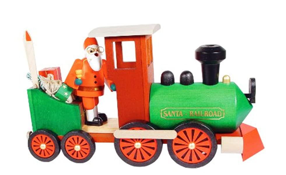 レッドデート凝視推測するエルツ山地Santa in Train Incense Smoker