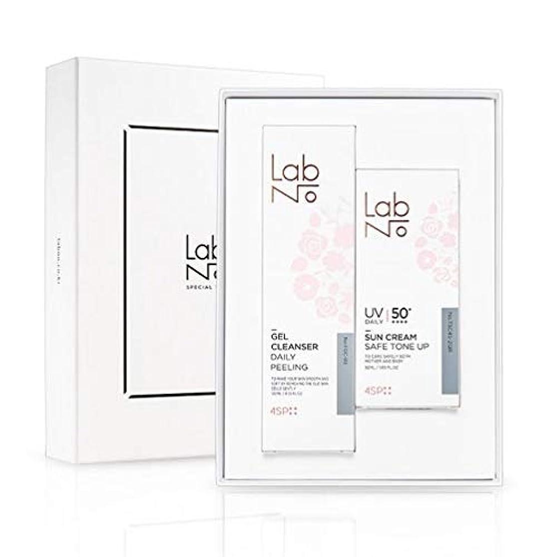 治療告白する不良品LabNo ジェルクレンザー + 日焼け止め セット / Gel Cleanser + Sun Cream Set / SPF50PA++++ [並行輸入品]