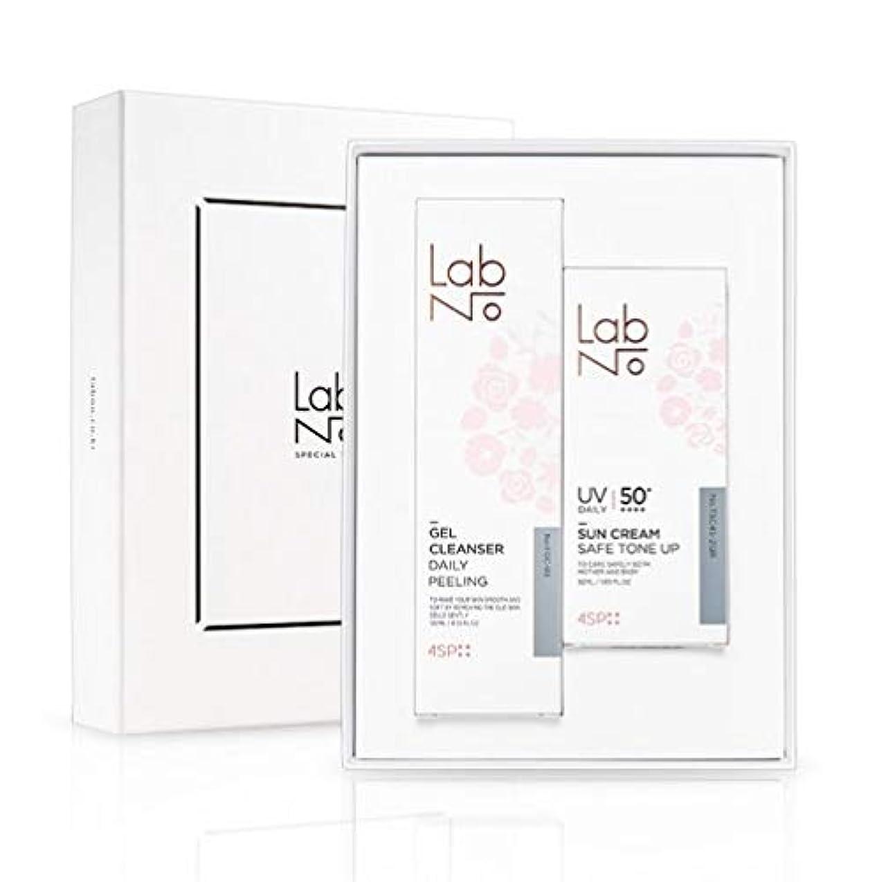 スクレーパーフォーマット不承認LabNo ジェルクレンザー + 日焼け止め セット / Gel Cleanser + Sun Cream Set / SPF50PA++++ [並行輸入品]