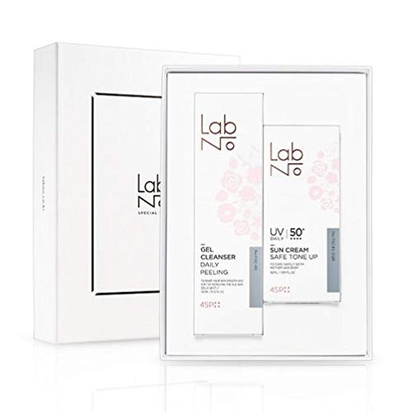 褒賞良心誤LabNo ジェルクレンザー + 日焼け止め セット / Gel Cleanser + Sun Cream Set / SPF50PA++++ [並行輸入品]