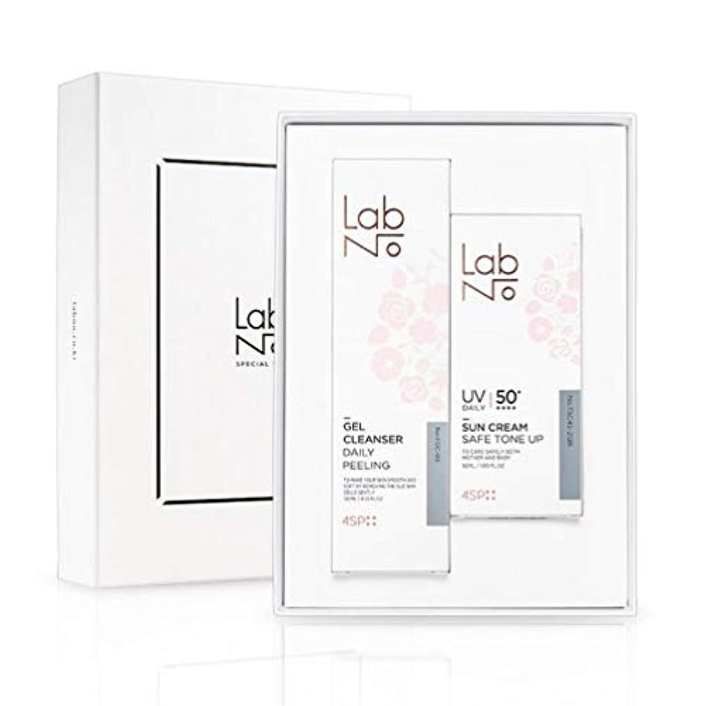 十分に判決定期的LabNo ジェルクレンザー + 日焼け止め セット / Gel Cleanser + Sun Cream Set / SPF50PA++++ [並行輸入品]