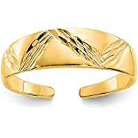 14K Yellow Gold Fancy Toe Ring