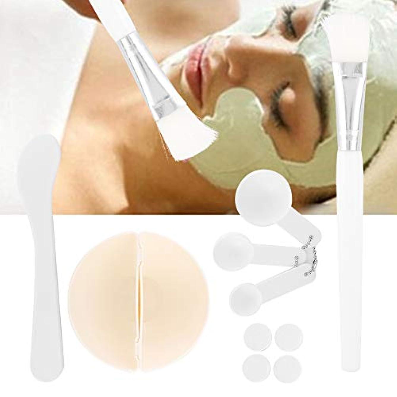 相続人意味バッジ圧縮フェイシャルマスクシート美容、DIYフェイシャルマスク化粧ツール美容ミキシングブラシスティックボウル圧縮マスク