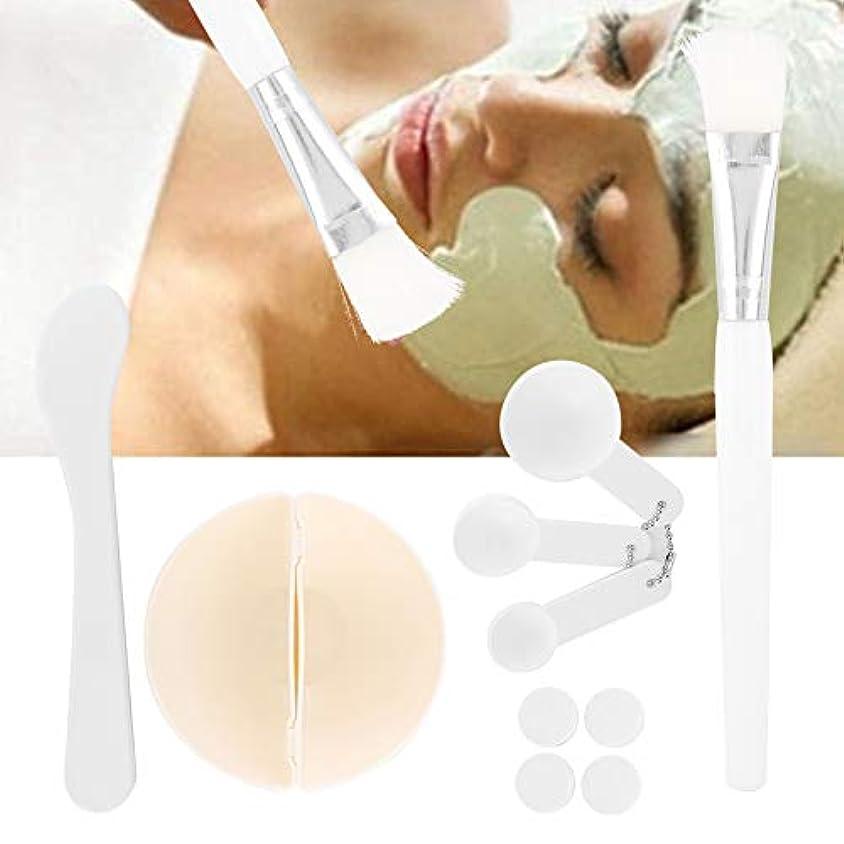 報復する固有の完璧圧縮フェイシャルマスクシート美容、DIYフェイシャルマスク化粧ツール美容ミキシングブラシスティックボウル圧縮マスク