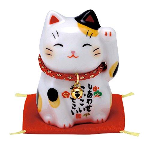 彩絵 福 招き猫(みけ) 7531