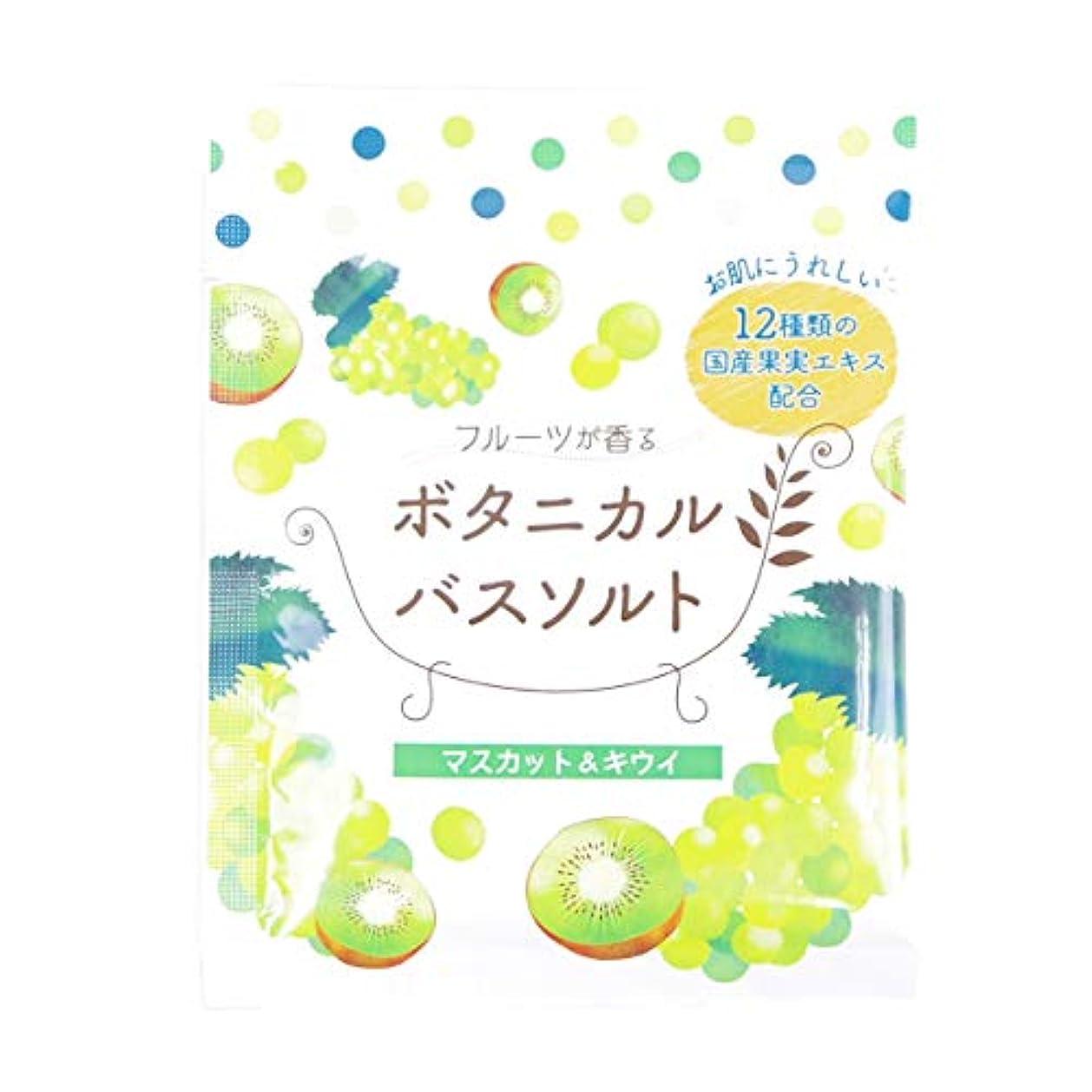 存在ナイトスポット集中松田医薬品 フルーツが香るボタニカルバスソルト マスカット&キウイ 30g