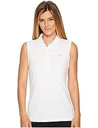 [PUMA(プーマ)] レディースセータージャンプスーツ Sleeveless Pounce Polo Bright White 2 M