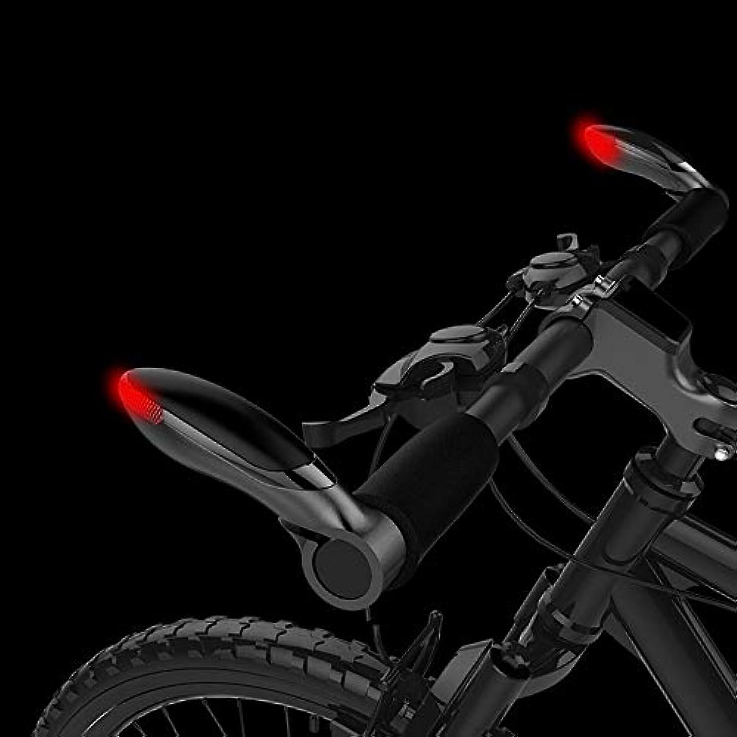 積極的に導出ヒューマニスティック自転車ステアリングハンドルバーライトLED防水ホッチキスデフォット警報ライト警告マウンテンバイク自転車アクセサリー