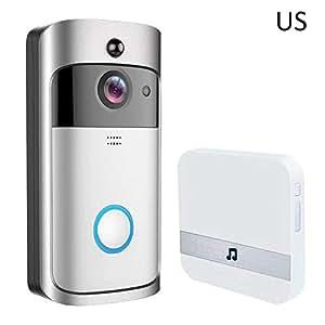 Purecherly インターホン ビデオドアベル ネットワークカメラ ワイヤレスチャイム 可視ドアベル Video Doorbell ホームセキュリティ 防犯対策