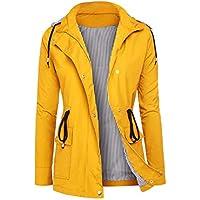 RAGEMALL Women's Raincoats Windbreaker Rain Jacket Waterproof Lightweight Outdoor Hooded Trench Coats