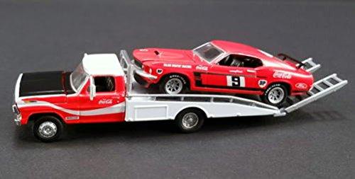 [해외]1 64 ACME Allan Moffat `s # 9 1969 Boss 302 Trans Am Mustang with Ford F-350 Ramp Truck 머스탱 보스 트란 잠 포드 트럭 미니 당근 차/1 64 ACME Allan Moffat`s # 9 1969 Boss 302 Trans Am Mustang with Ford F - 350 Ramp Truck Mustang Bos...