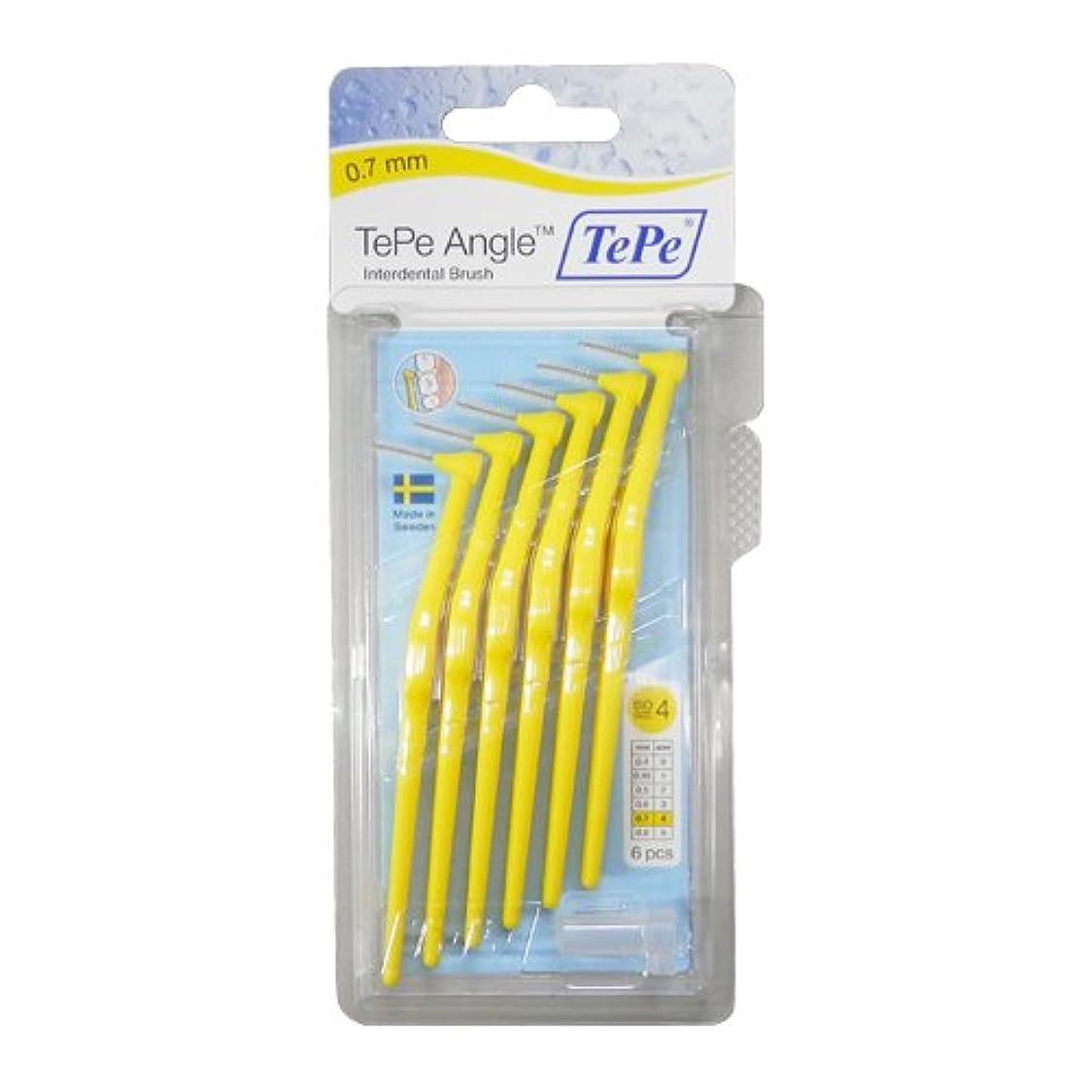 篭支出協力するテペ(TePe) アングル歯間ブラシ 6本入×2個セット イエロー (0.7mm)