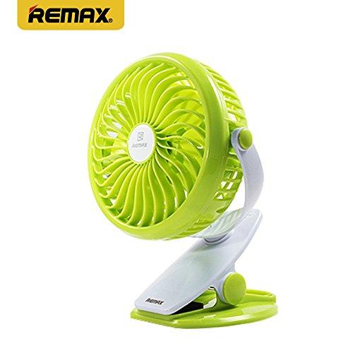REMAX リマックス F2 CLAMP 卓上クリップ型 USB扇風機 BABY CAR 挟める4枚...