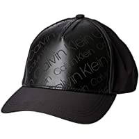 Calvin Klein Men's Metallic Baseball Cap, Black, One Size