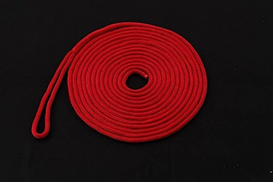相談そんなにバクテリアダブルブレイドPPアイ付ロープ 12mm×7.5m レッド