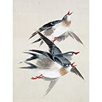 Okamoto Pictures Flowers Birds Japanese 17 Painting Extra Large XL Wall Art Poster Print 画像フラワーズ鳥日本人ペインティング壁ポスター印刷