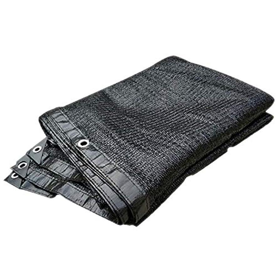 バストセグメント自動車サンシェード?シェルター パーゴラカバーキャノピー日焼け止めブロック生地用グロメット付き90%シェード生地サンシェード布 (Color : Black, Size : 19.8x33ft/6x10m)