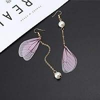 YOBEST 新蝶ドロップ女性と少女のロング形の真珠のイヤリングファッションジュエリーギフト昆虫ピアス