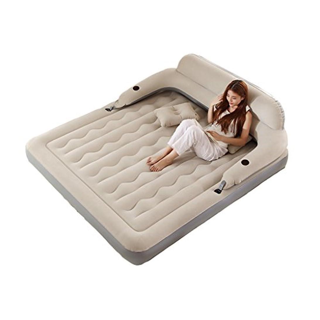 追い付く共同選択珍味ベッド、インフレータブルマットレス家庭用屋外空気ベッドポータブル (色 : A, サイズ さいず : 152CM*203CM*19CM)