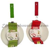 Uniware 16cm Aluminum Flip Pan with Ceramic Coating Green and Red Set [4307] [並行輸入品]