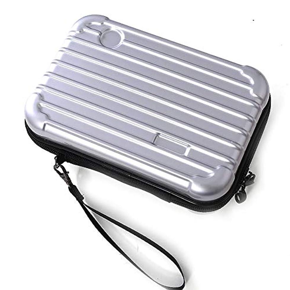 Snner サコッシュ メンズ レディース ポーチ 化粧品 スーツケース 型 ミニ 旅行 バッグ アイコス スマホ 通帳 ケース #1