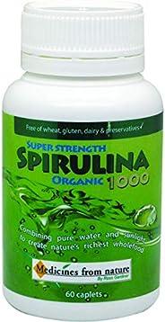 Medicines from Nature Super Strength Organic Spirulina 1000 60 Caplets, 60 count